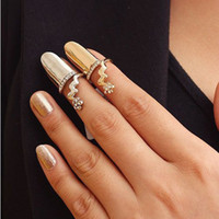 acrylic nails cheap - 216 alloy ring factory direct selling fashionable diamond ring nails Cheap