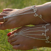 Wholesale 1PC Barefoot anklets Sandals Foot Jewelry Beach Dancing Wedding Ankle Bracelet Chain HH