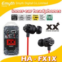 Wholesale HA FX1X HiFi Bass In Ear Xtreme Xplosiv High Quality Stereo Headphones Casque Stereo earphone for iPhone iPad iPod with retail package