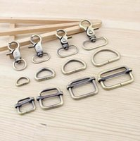 Wholesale Luggage Bags Bag Parts Accessories mm Zinc alloy Lobster Clasp D ring Square Buckle Spring hooks DIY