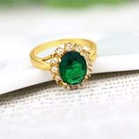 big fashion rings - 2015 New Green Zircon Exaggerated Big Ring Fashion Jewelry k Gold Plated Novelty Women Men Accessories Brand Designer Hot J0013