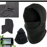 Wholesale Fashion Thermal Fleece Windproof Balaclava Hood Face Mask in Men Women Beanies Caps Set Styles Choose DPA