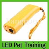 Wholesale 3PCS Dog Pet Ultrasonic Aggressive Dog Repeller Train Stop Barking Training Device LED Light