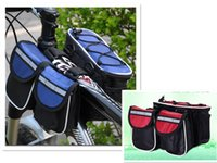 Wholesale New Fashion Bicycle Cycling Frame Double Front Bags Saddle Top Tube Bags D Woven Fabric