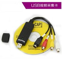 Wholesale Free DHL Fedex New USB Video Card Capture Grabber Adapter for TV VHS DVD to USB Converter Support Win7 MAC