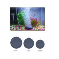 Wholesale Fine Aquarium Air Bubble Stone Aerator for Fish Tank Round Oxygen Increase Sand Plate Aquarium Accessory