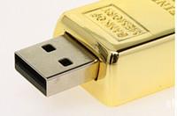 gold bars - Gold bar GB GB GB Metal USB Flash Drive Pen Drive USB Flash Drive Card Memory Stick Drive Pendrive free DHL shipping