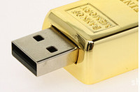 Wholesale Gold bar GB GB GB USB Flash Drive Metal case Pendrive thumb drive for digital camera for tablet PC for smartphones
