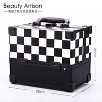 artists craftsman - Beautiful craftsman fashion hand in hand make up box of multi layer large professional makeup artist with makeup case optional