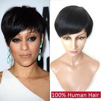 malaysian lace wigs - Human Hair Short Bob Wig for Black Women Full Lace Virgin Hair Wigs Unprocessed Malaysian New Fashion