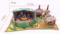 amusement park games for kids - Handmade D Models Puzzle Kids Educational Toys DIY Jigsaw Puzzle Games for Children Amusement Park XY