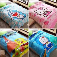 Wholesale More Bedding Supplies blanket to keep warm blanket child woolen blanket children cartoon flannel blanket cm