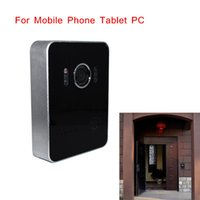 Wholesale Wireless WiFi Video Visual Doorbell Intercom System Home Security for Mobile Phone Tablet PC EU US Plug Top Quality