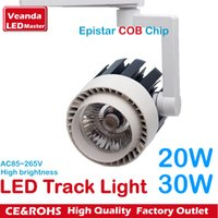 Wholesale Rail LED tracking lights fashion store LED spotlight Epistar COB reflector W W flood track light K K K AC85 V