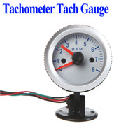 Wholesale Tachometer Tach Gauge with Holder Cup for Auto Car quot mm RPM Orange Light