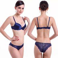 Wholesale bra brief sets new underwear lace bras sets sexy bra set women brassiere japanese push up sex lingeries