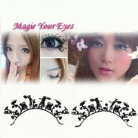 artistic forever - 1 pair pack Cherish forever Artistic lace face luxury artificial false eyelashes sticker