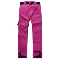 Wholesale Hot sale new man and women winter outdoor sport pant candy color waterproof windproof and thermal snowboarding skiing trousers