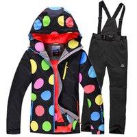 Wholesale 2014 New women winter outdoor snowboarding sports suit ski jackets pants climbing jacket waterproof ladies snowboard chaqueta esqui mujer