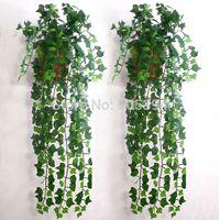 Wholesale Artificial Ivy Leaf Garland Plants Vine Fake Foliage Flowers Home decor feet