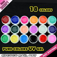 nail art supplies - X sets colors CANNI Factory Supply GDCOCO Brand Pure Color UV Gel Nail Art UV Gel Laquer Nails Kit