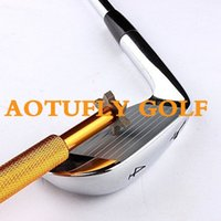Wholesale New Golf Club Groove Sharpener Cleaning Tool Golf Cleaner For Golf Iron Wedge Club U V Square Grooves colors