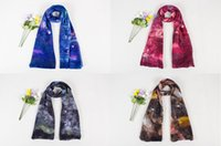 Wholesale Women Ladies Scarves Starry Sky Shawl Wraps Cotton Soft Cheap Hot Sale Scarf Fashion Scarves