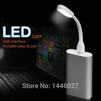 Wholesale usb led lamp Ultra Bright W LEDs lightning usb for Notebook Computer Laptop PC Portable led light Flexible metal Neck light foldable