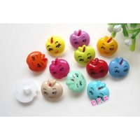 apple garments - 14mm mix spring color apple face resin button KIDS clothes Sewing Casual Knopf Garment Notions Scrapbook Crafts headband finding