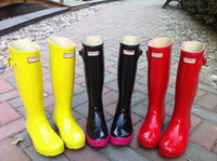 wellies - 2014 Brand New Women Fashion Rubber Rain boots Woman Knee High Waterproof Wellies Rainboots Water Shoes High Quality boots