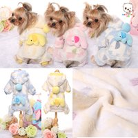 dog pajamas - Supper Comfortable Flannel D Elephant Patten Four Legs Hoodies For Small Pet Dogs Flannel Pet Dog Clothing With Pocket Warm Winter Pajamas