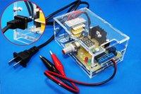 Wholesale US Plug V DIY LM317 Adjustable Voltage Power Supply Board Kit With Case