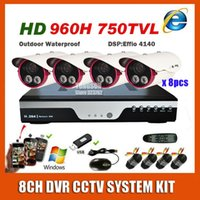 Wholesale 2015 Best CH TVL CCTV Camera System Kits Channel Array infrared Outdoor Waterproof Video Surveillance Cam System Kit