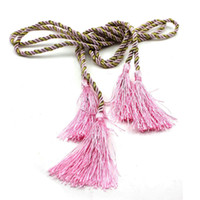 Wholesale 2Pcs Fashion Curtain Accessories Holder Hanging Belt Curtain Tie Buckle Bandage Tassel Rope