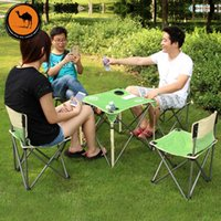 Wholesale Camel Five piece portable folding tables and chairs for outdoor picnic tables and chairs coffee table indoor and outdoor common