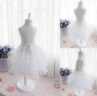 Wholesale Hot Sell Pretty Flower Girls Dresses Match Petticoat Organza Ball Petticoa Skirts NO