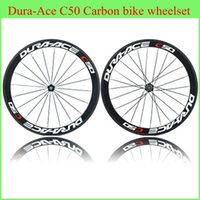 Wholesale 2014 New Arrival C50 Carbon Bike Wheels mm Wheels Carbon K Weave Road Bicycle Wheelset Glossy Matte Finish Different Hubs Wheel Set