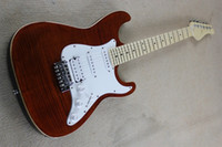 basswood veneer - The Hot Sale Factory Customzied Electric Guitar with Reddish Brown Body and Flamed Maple Veneer