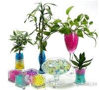 Wholesale LJJH553 Pearl shaped Crystal Soil Water Beads Mud Grow Magic Jelly balls wedding Home Decor