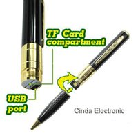 Wholesale SPY DVR RECORD VIDEO CAMERA CAM GOLDEN PEN HD x960 Spy Pen Camera Hidden Webcam Camera