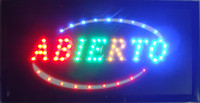 animate catches - Hot selling customerized Animated LED ABIERTO SIGN BOARD neon light eye catching slogans SIZE x10 quot