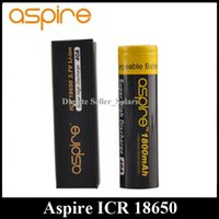 aspire rechargeable - Authentic Aspire ICR Battery mAh Capacity A Discharge Flat Top High Drain Rechargeable Li on Battery Best Quality