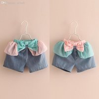 Cheap Wholesale-Girls Shorts Rushed Cotton Summer 2015 Korean Children's Clothing New Bow Girls Baby Leisure Short Shorts Kz-3770 Free