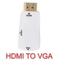 Wholesale 1080P HDMI Male to VGA Female Adapter Video Converter with Audio Output