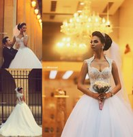 Cheap 2015 Sweetheart Saudi Arabic Backless Winter Wedding Dresses Zipper Back Appliques Beaded Bodice Sheer Ball Gown Organza Bridal Gowns