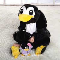 Cheap HOT SALE New Kids Black Penguin Anime Costume UniseCartoon Character Costume Pigiama Animal Cosplay children Onesies Sleepwear S,M,L,XL,XXL