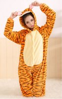 apartments orange - Love Apartments flannel Tigger lovely pass animal piece pajamas men and women lovers tracksuit