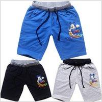 Cheap 2015 kid girl boy Toddler 6 color 6 size spiderman big hero 6 mickey summer cotton Casual pants shorts beach wear sportswear TOPB2532 12pcs