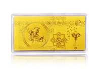 gold bullion - Year of the Sheep Ram D Hard Au gold k gold foil mini Bullion gold bar for investment collection g grams as gift for New Year