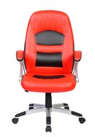 Wholesale modern comfortable red and black executive PU swivel office chair
